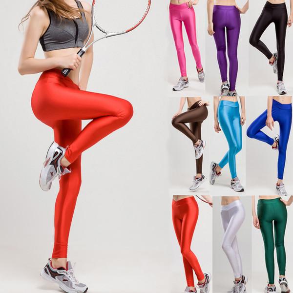 5d50358475a77 2018 V High Waist Candy Colors Neon Sportswear Workout Leggings Women Pants  Sexy Slim Fashion Jogging