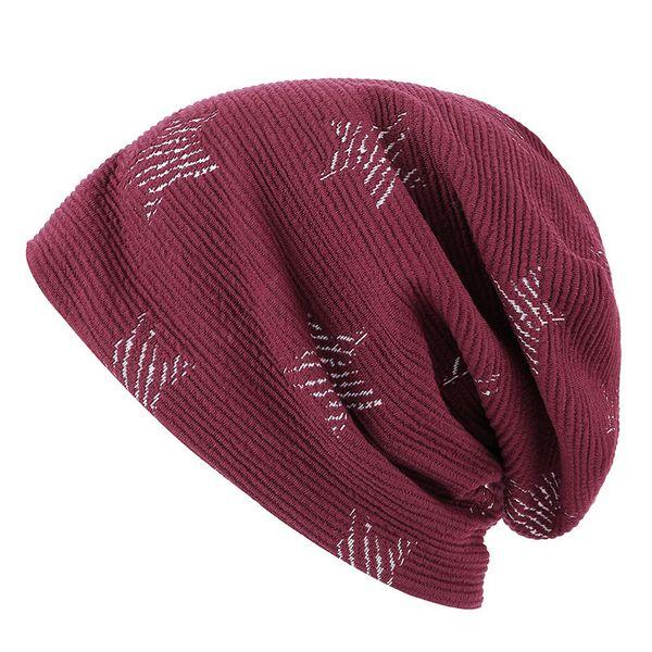 New men's autumn and winter hats Korean version of double-layer plus velvet caps earmuffs pile hat tide