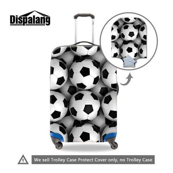 Men Outdoor Thicken Wearable Travel Luggage Suitcase Protective Cover For 18 20 22 24 26 28 30 Inch Suitcase Football Soccer Antidust Covers
