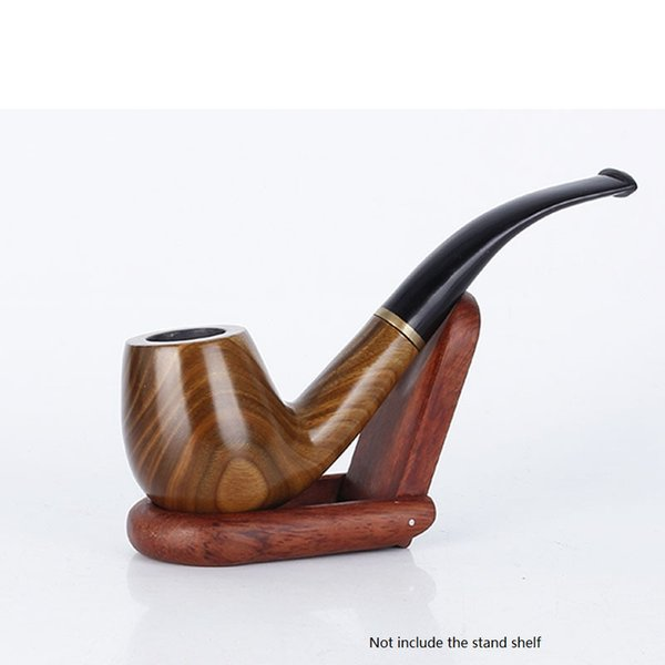 free shipping USA Creative wood tobacco smoking pipe Detachable wooden classic bent tobacco pipes high grade cigarette holder cigarette stem