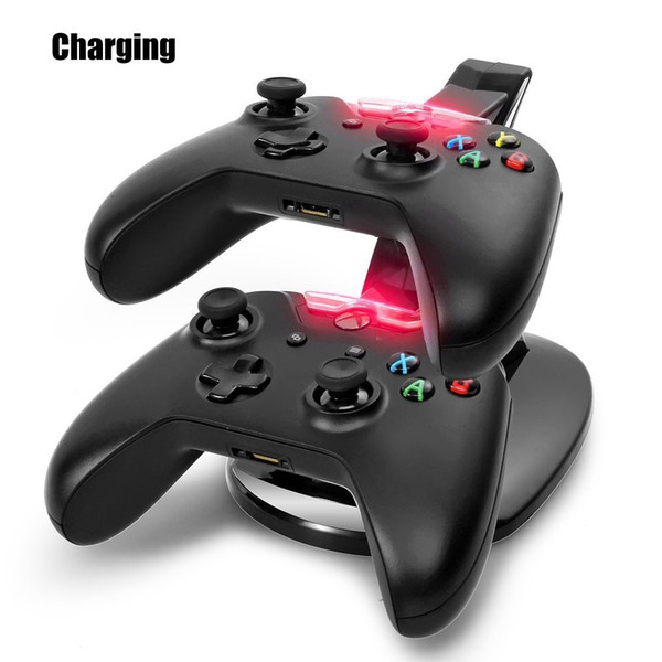 hot sale Distinct LED Dual USB Charging Fast Charging Adapter Stand Dock Station Charger for Dual Xbox One XBOXONE Game Gaming Controller