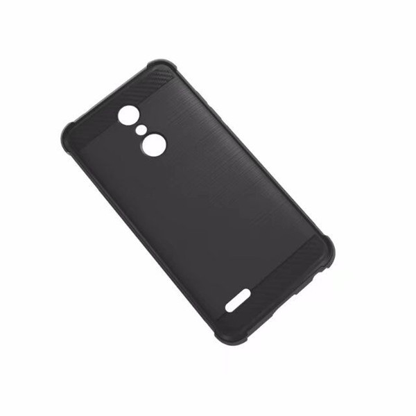 1.3mm Shockproof Brush Armor Soft TPU Silicone Four angle Phone Case For LG K10 2018 LV5 2018