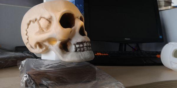 Skeleton Lantern Skull Light LED for Halloween Party Christmas Decor Dropshiping Headmagnetic levitation Skull Lamp Auto Rotating, PLA