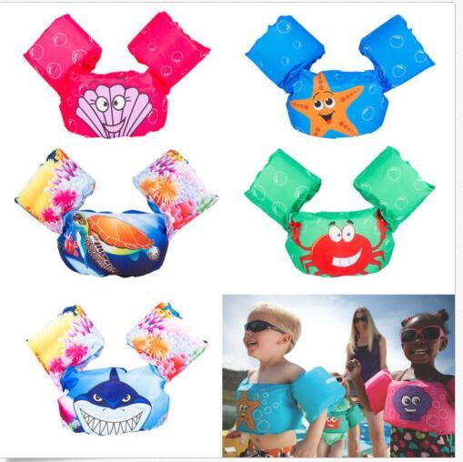 7 design Swimming Arm Floating Life Jacket inflatable Animal print cartoon vest Arm Ring Inflatable Safety Arm Floats Bands Rings KKA5058