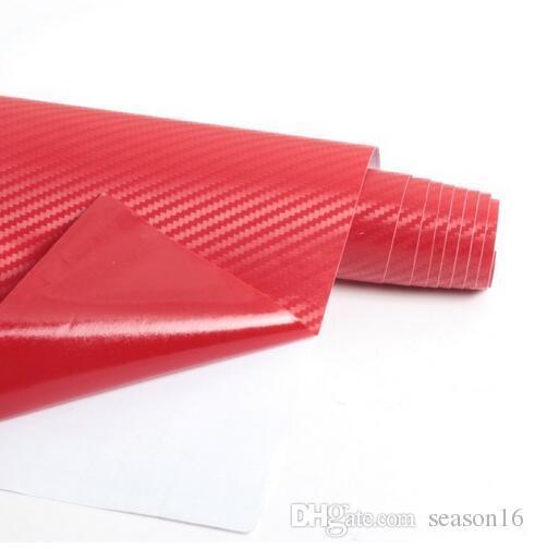hot 3D Carbon Fiber Vinyl Film 3M Car Stickers Waterproof DIY Motorcycle Automobiles Car Styling Wrap Roll Accessories