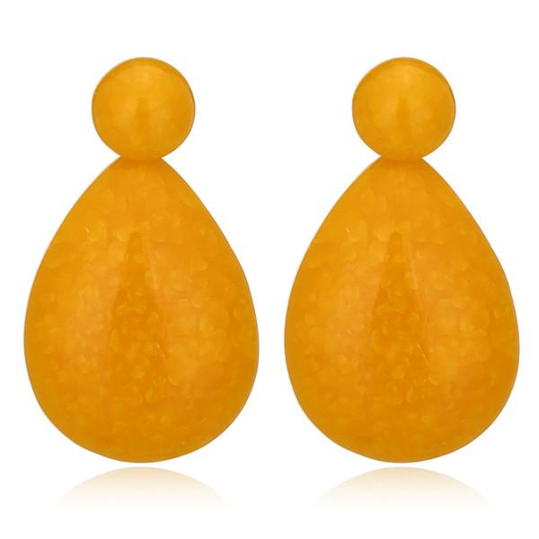 2018 Nouveau Design Mode Simple Bijoux Big Drops Résine Boucles D'oreilles Effet Glacé Boucles D'oreilles
