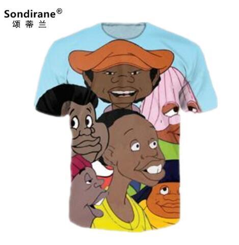New Fashion Womens/Mens 3D Print Fat Albert Cast Funny T Shirt design Summer Short Sleeve Hip Hop Tops Casual Clohting