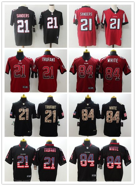 official photos f9a02 63744 2018 2018 2019 Men 21 Deion Sanders Atlanta Falcons Football Jerseys 100%  Stitched Embroidery 84 Roddy White Color Rush Football Stitching Jersey  From ...