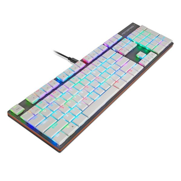 Professional Wired Mechanical Keyboard 104 Keys Full Keys Gaming Gamer Keyboard With RGB Backlight for PC Computer