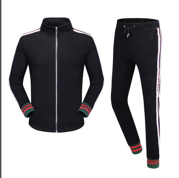 2018 hombres gorra deportiva sin forro prenda superior y sudadera negra qiu dong jogging trajes crimen deporte traje ropa deportiva