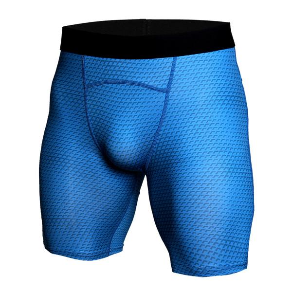 2018 Beach Summer Compression Shorts Men Fashion 3D Print Short Leggings Crossfit Joggers Quick-drying Skinny Fitness Shorts Men