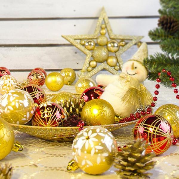 Dibujos De Arboles De Navidad Pintados.Compre 24 Unids Bolas De Navidad 6 Cm Bolas De Decoracion De Arboles De Navidad 6 Dibujos A Color Bolas Pintadas De Navidad A 16 93 Del