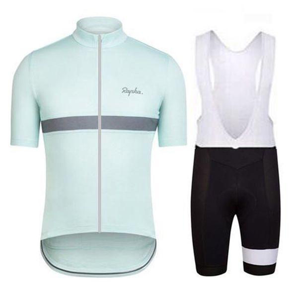 RAPHA equipo de ciclismo de manga corta camiseta de bib pone verano 2019 para hombre de la bici de secado rápido U92022 ropa de la bicicleta de manga corta