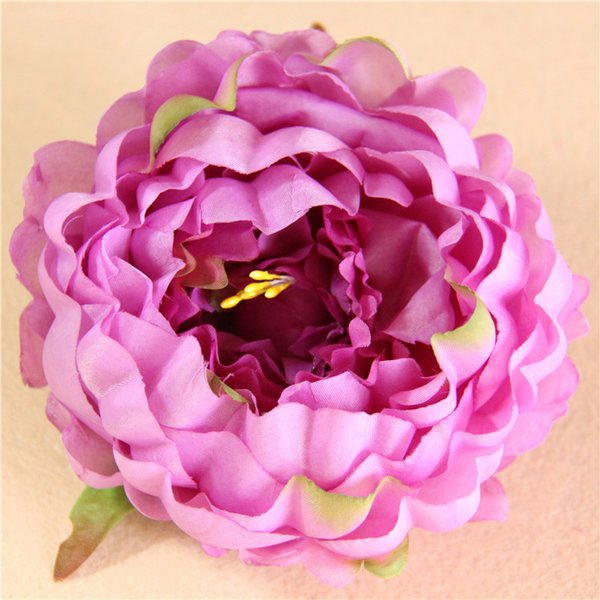Новые искусственные цветы Пион шелк цветок головки партии свадебные украшения поставки моделирования поддельные цветок глава украшения дома 12cmest