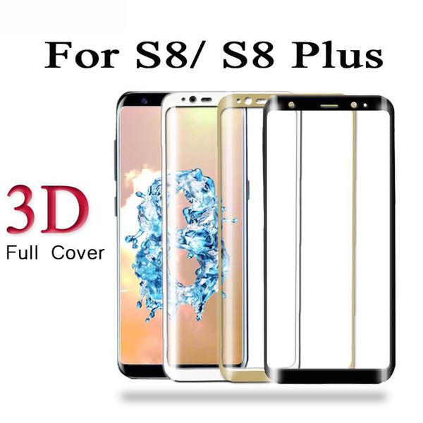 3D per samsung galaxy s8 vetro temperato vetro di protezione dello schermo per Samsung Galaxy S8 Plus vetro temperato protezione dello schermo Pellicola occhiali nuovo