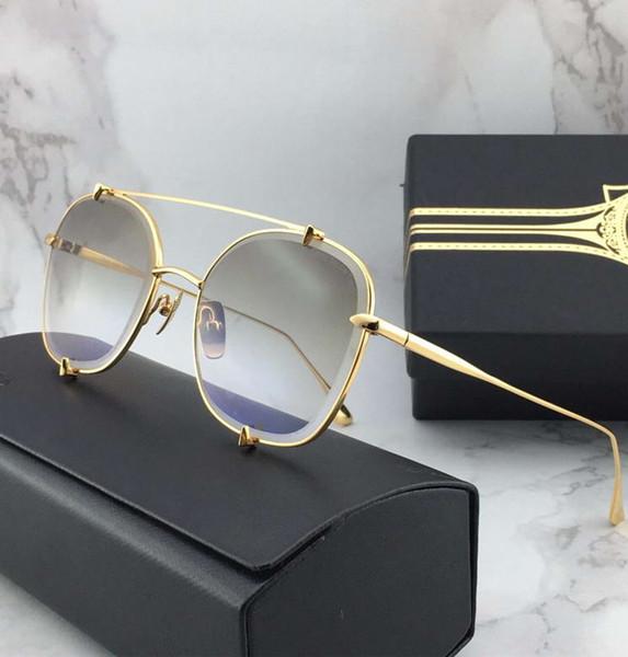 Mujeres Gold Metal Pilot Sunglasses Gold Flash Mirror Sonnenbrille Eyewere Gafas de sol al aire libre nuevo en caja