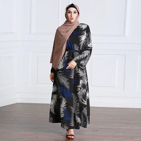 2018 Abaya Kaftan Dubai Arabic Turkey Muslim Hijab Dress Abayas For Women Qatar UAE Vestidos Turkish Islamic Clothing
