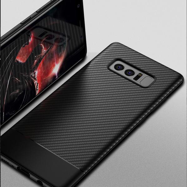 10PCS для Samsung Galaxy Note 8 Case Luxury, углеродного волокна TPU приспособленный случай