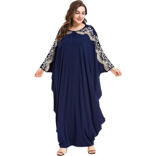 3187027 Горячие Продать Мусульманские Женщины Платья Летучая Мышь Рукав Свободные Большой Код Платье Мусульманин Дубай Летучая Мышь Рукав Халаты Musulman Абая Mujer Vestidos