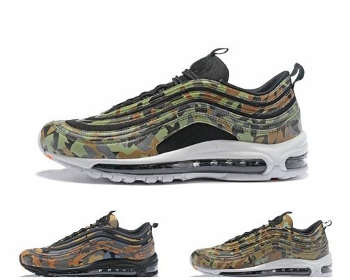 various colors 49b06 1e967 New 97 Country Camo Japan Italy Uk Army Green Running Shoes Men 97s  Camouflage Ultra Bullet 3m Premium Zoom Trainers Sneakers 40 45 Brown Shoes  Formal ...