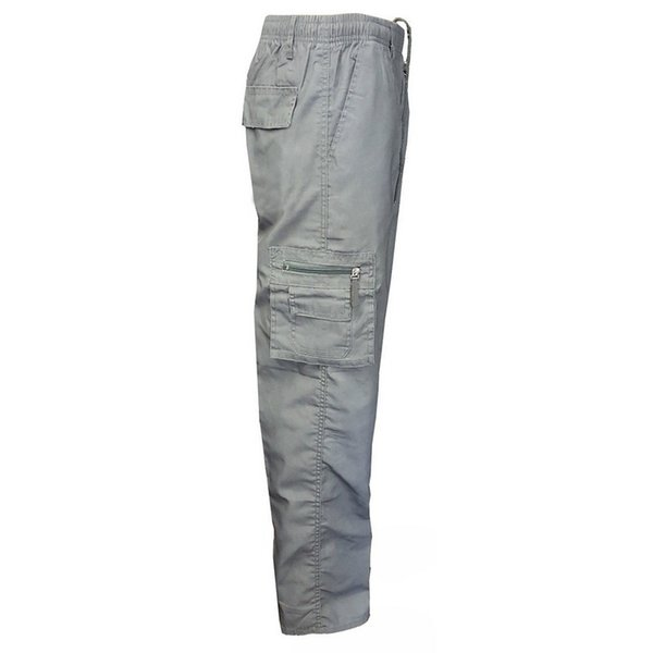 NIBESSER 2018 Multi-pocket Men's Cargo Pants Summer And Autumn Casual Drawstring Full Length Cargo Pants Light Men's Trousers