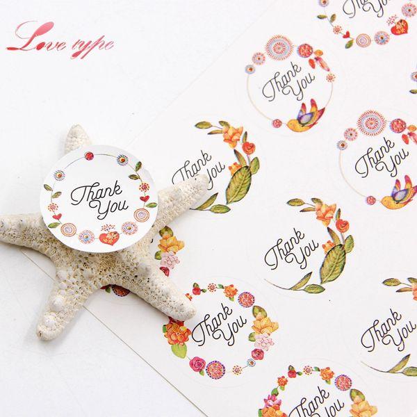 Scrapbooking Embellishments Scrapbooking Stickers 60pcs=5Sheets Thank You Sticker Labels Wedding Envelope Card Package Seals  DSUK