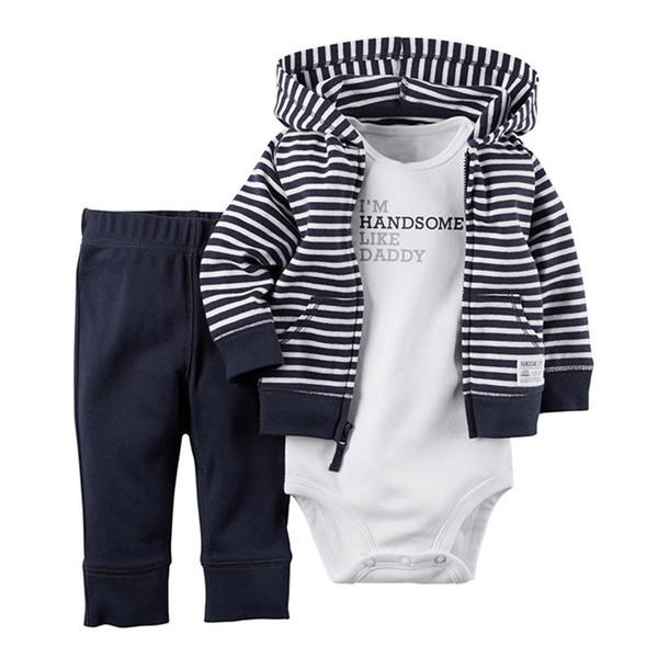 Набор одежды для мальчиков для девочек Набор для мальчиков из хлопка с капюшоном с капюшоном + брюки + костюм + 3 шт. Костюмы для новорожденных Наборы детской одежды
