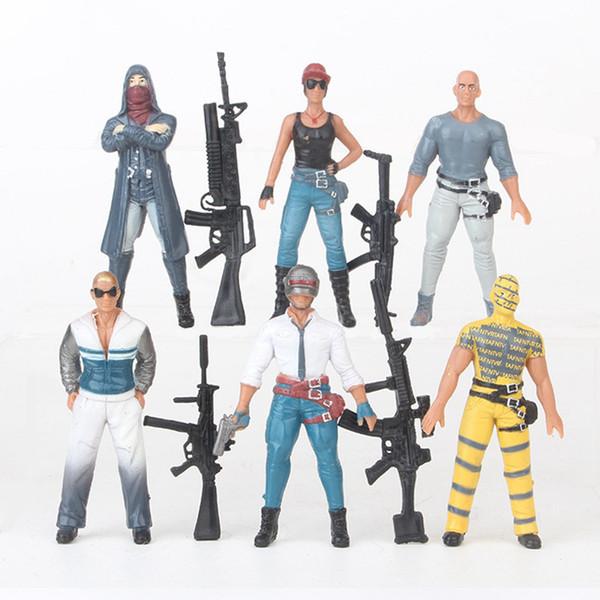 Playerunknown's Battlegrounds Action Figures Game 6pcs/lot 9cm PVC Kids Collectable Model Men with Guns Role FigureToys for children