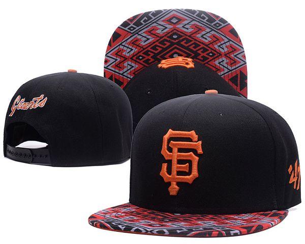 Moda erkek Beyzbol Giants Snapback Şapka 47 Tasarım Klasik Işlemeli Mektup SF Kemikleri Spor Beyzbol Düz Kapaklar Ile Özel Ağız