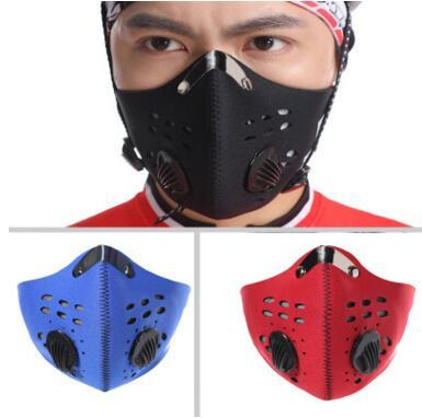top popular Half Face Mask Bike Bicycle Sports Cycling Masks Anti-Dust Outdoor Sports Mask Cycling Anti Dust Mask Filter Air Pollutant for Bicycle Ridin 2020