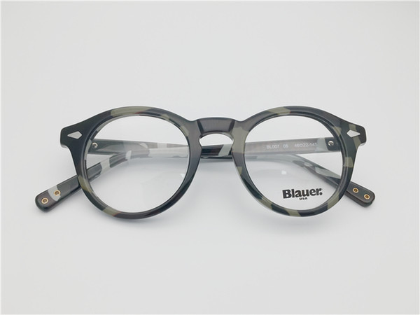 f64a473852ed ... Eyewear & Accessories ; Sunglasses Frames ;. Round shape vintage retro  design army color full rim acetate Spectacle frame for men women Myopia