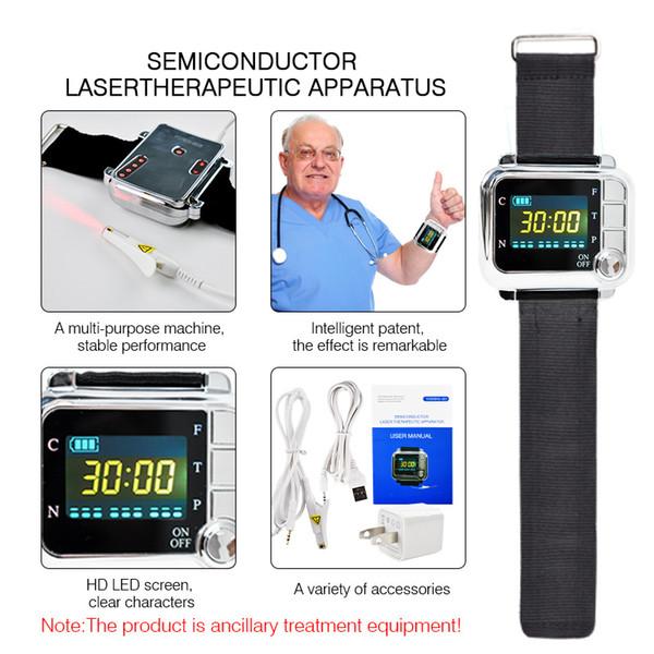 Hypertension artérielle diabète cholestérol traitement thrombose cérébrale dispositif médical thérapie au laser montre au poignet