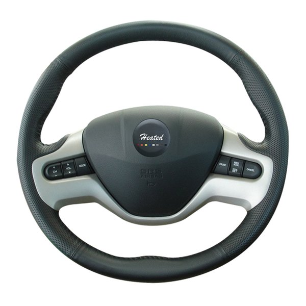 Genuine nappa leather car wheel steering cover for Honda Civic Old Civic 2006-2009 Braid on the steering wheel