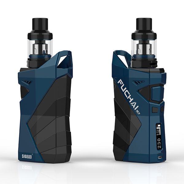 oringinal sigelei range Fuchai R7 box Mod KIT TCR vape mod 2.5ml T4 Tank coil E Electronic cigarete e cig FUCHAI R7 full kit