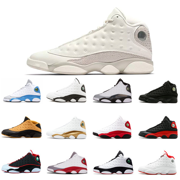 "Top quality 13 WMNS ""Phantom"" Basketball Shoes Discount Low Chutney Pure Money He Got Game Black Cat Athletic Sport Sneakers free ship"