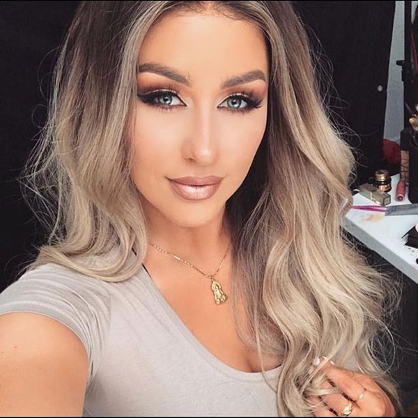 Best quality 10a cheap beauty 100% unprocessed virgin remy human baby hair long ombre color big curly full lace wig cheap for women
