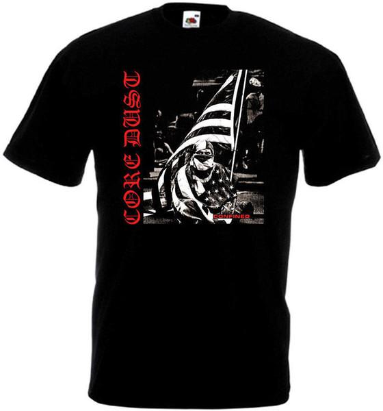 Núcleo Dust Confinado T-shirt Preto Punk Hardcore Todos Os Tamanhos S-3XL Camiseta Novidade Legal Tops Dos Homens de Manga Curta Top Tee Plus Size