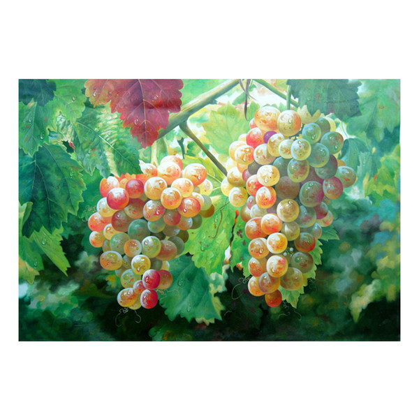 Oil Painting Prints on Canvas Wall Art Picture for Living Room Home Decorations Unframed Hand-painted oil painting wine fruit SHD4-010