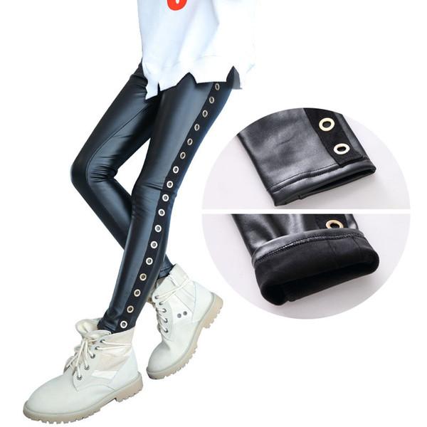 scarpe a buon mercato la migliore vendita più colori Acquista Leggings In Pelle Bambina Pantaloni Invernali In Velluto ...