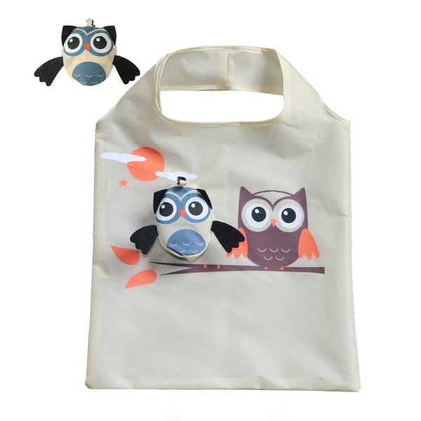 Cute Animal Owl Shape Folding Bag Eco Friendly Ladies Gift Foldable Reusable Tote Bag Portable Travel Folding Bag