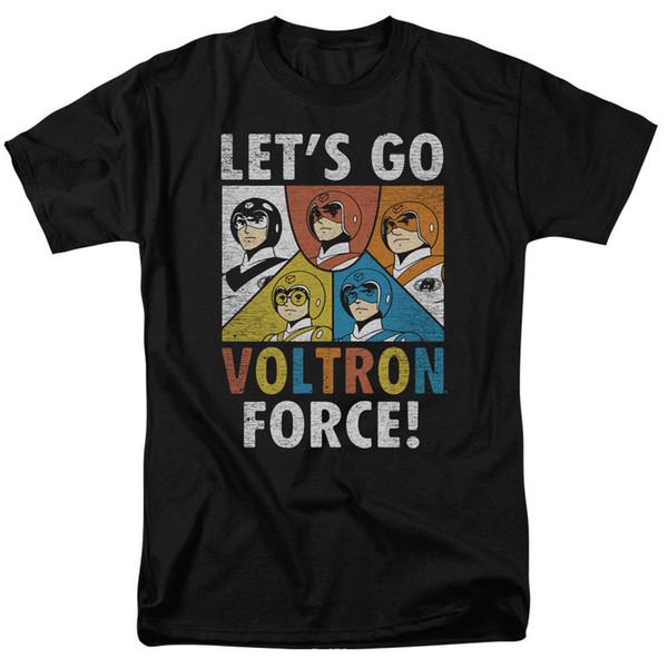 Voltron Lets Go Voltron Força Licensed Adulto T Camisa Engraçado frete grátis Unisex Casual tee presente
