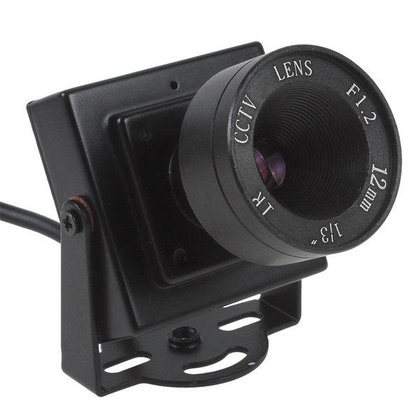 Mini HD 600TVL 1/3 CMOS Security Audio Video Color CCTV Camera with 12mm Lens CCT_534