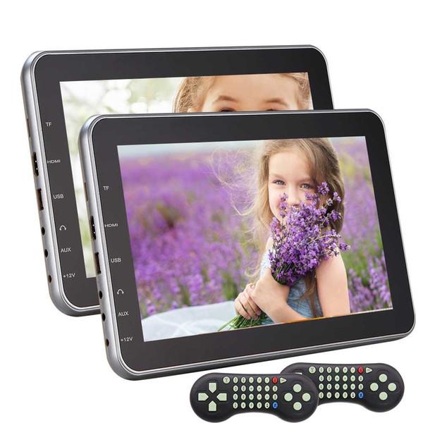 EinCar 10.1''Dual Monitos Twin Headrest car DVD Players Car Video Audio Wide Screens Display HDMI Port+Game discs+2 pcs Remote control