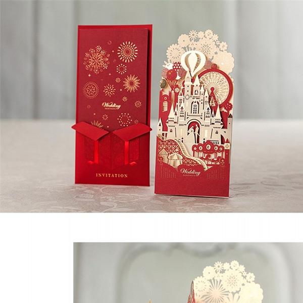 Tarjeta de felicitación del rectángulo Proceso de estampado de oro Invitaciones de boda del partido de DIY Exquisita Tarjeta de invitación de reunión de negocios de moda 4 6ws WW