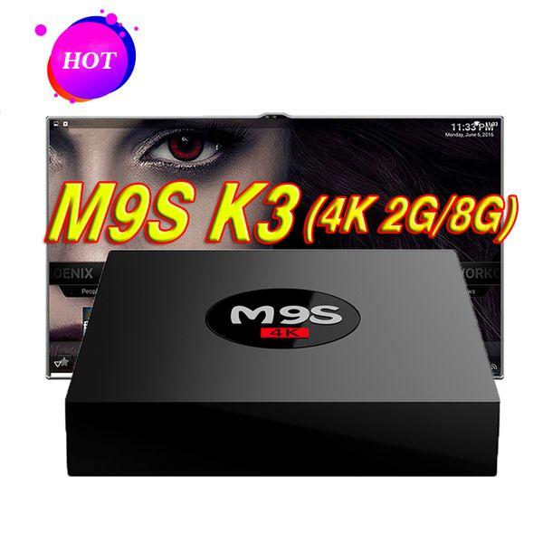 2018 New RK3229 M9S K3 Android TV Box 4K HDR H.265 HEVC 3D play 2GB RAM 8GB Internet TV Box