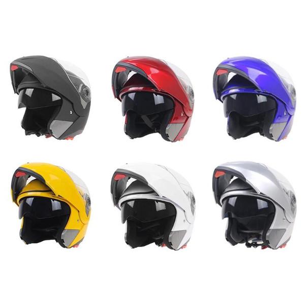 Full Face Flip Up Open Motorcycle Helmet Double Lens with Inner Sun Visor Warm Winter Spring Motorbike Bicycle Scooter Helmet