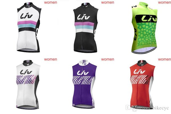 LIV team Cycling Sleeveless jersey Vest women 100% Polyester 2018 summer style mountain bike riding Bicycle Clothing D0203