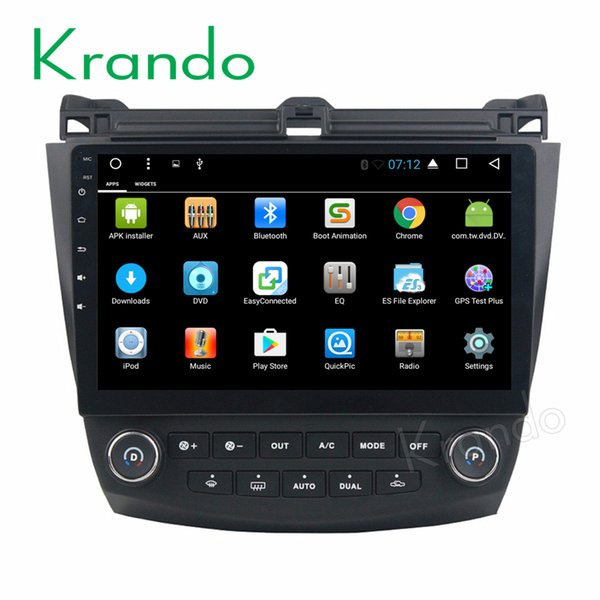 "Krando Android 7.1 10.1"" car dvd audio navigation gps for Honda Accord 7 radio multimedia entertainment system WIFI bluetooth"