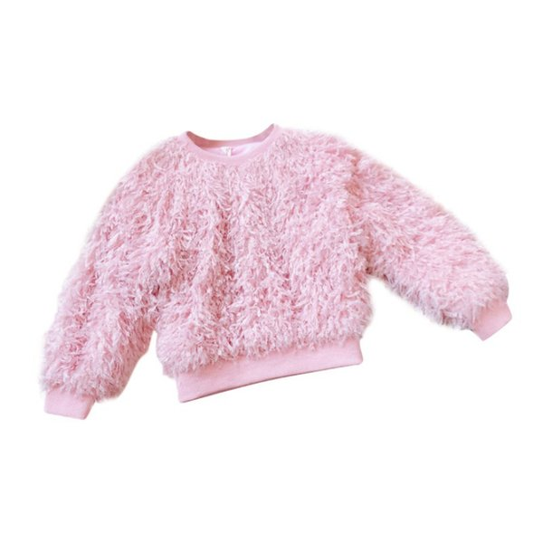Baby Girls Sweaters Winter Hairy Kids Clothes Girl Christmas Sweater Children Clothing Tops Pullover