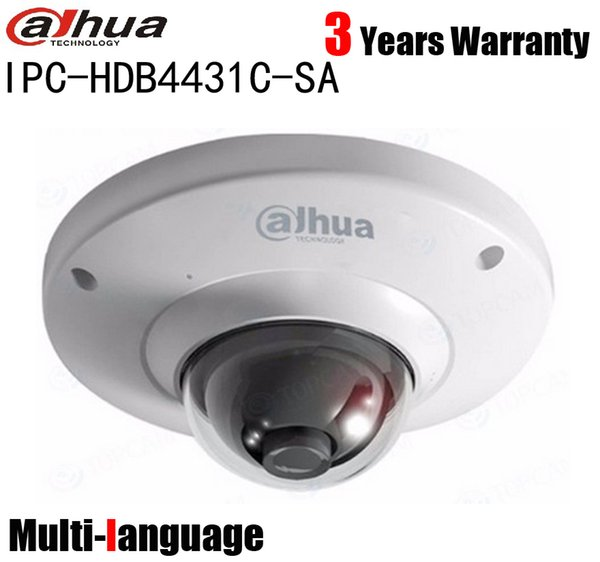 Dahua IPC-HDB4431C-SA 4mp H.265 Mini Dome IP Camera Built-in Mic PoE Network Security Multi-language Camera replace IPC-HDB4300C